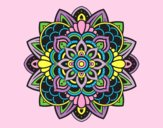 Coloring page Decorative mandala painted byAnia