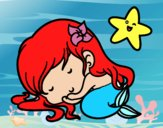 Little mermaid chibi sleeping