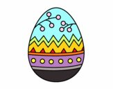 Coloring page An easter egg painted bySant