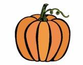 Coloring page Big pumpkin painted byAnnanymas