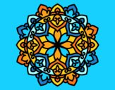 Coloring page Celtic mandala painted byAnia