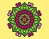 Coloring page Mandala arabic hearts painted byAnia