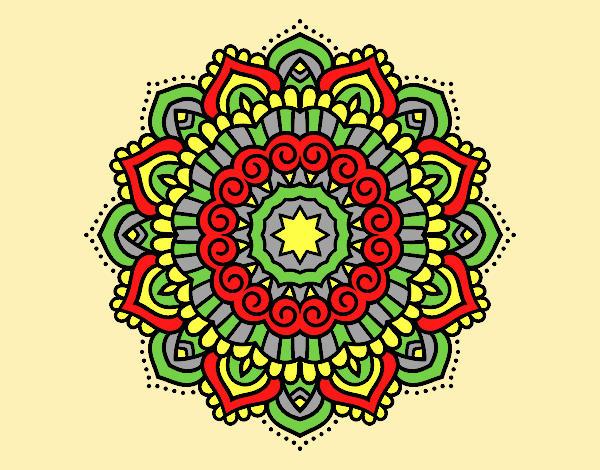 Mandala decorated star
