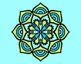 Coloring page Mandala exponential growth painted byAnia