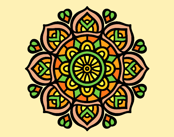 Mandala for mental concentration