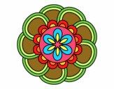 Coloring page Mandala petals painted bySant