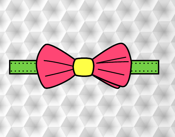 Coloring page Modern bow tie painted bySant