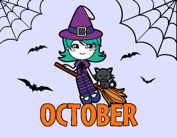 Coloring page October painted byAryanLove