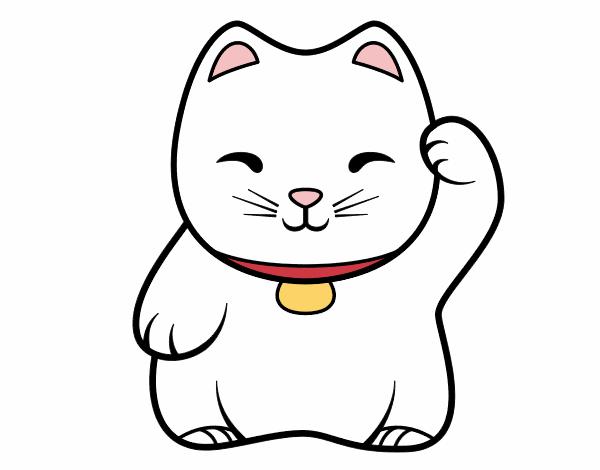White Maneki-neko