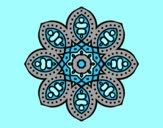 Coloring page Arabian mandala painted byAnia