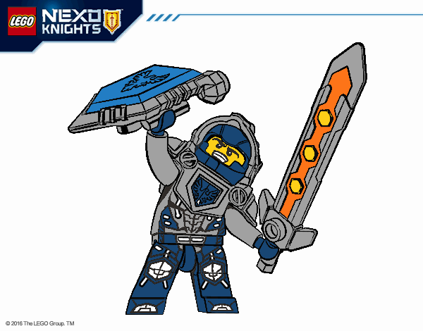 - Colored Page Clay Nexo Knights Painted By User Not Registered