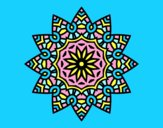 Coloring page Mandala flowery star painted byAnia