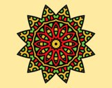 Coloring page Mandala star painted byAnia