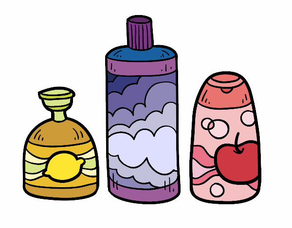 Coloring page 3 bath soaps painted byAnnanymas