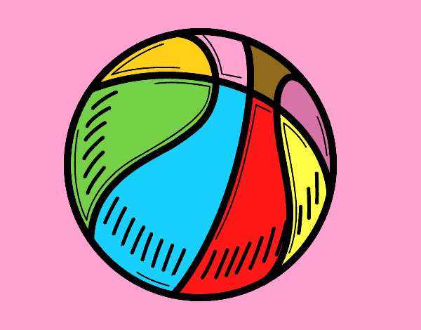 colored page a basketball painted by user not registered