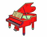 Coloring page A grand piano open painted byBoylover2