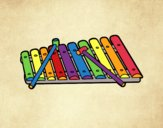 Coloring page A xylophone painted byBoylover2