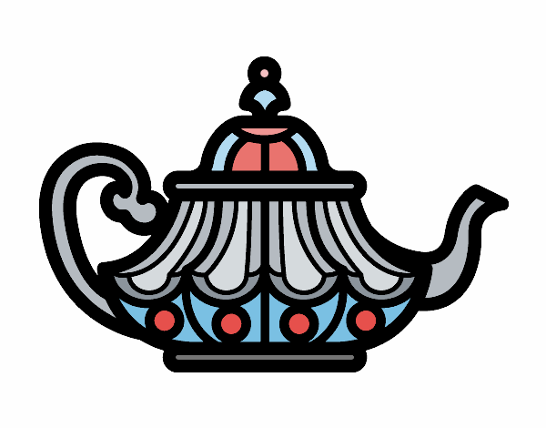 Coloring page Arabic Teapot painted byAnnanymas