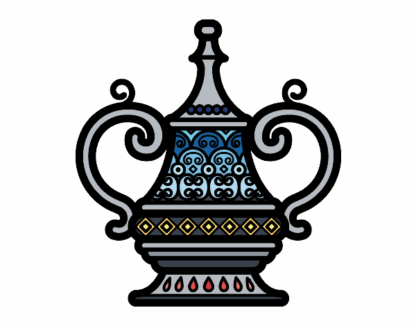 Coloring page Arabic vase painted byAnnanymas