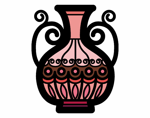 Coloring page Decorated vase painted byAnnanymas