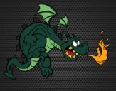 Coloring page Evil dragon painted byEerie