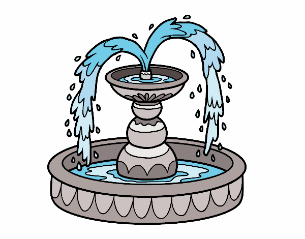 Coloring page Fountain painted byAnnanymas