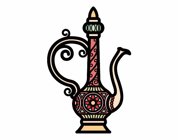 Coloring page Morroco Teapot  painted byAnnanymas