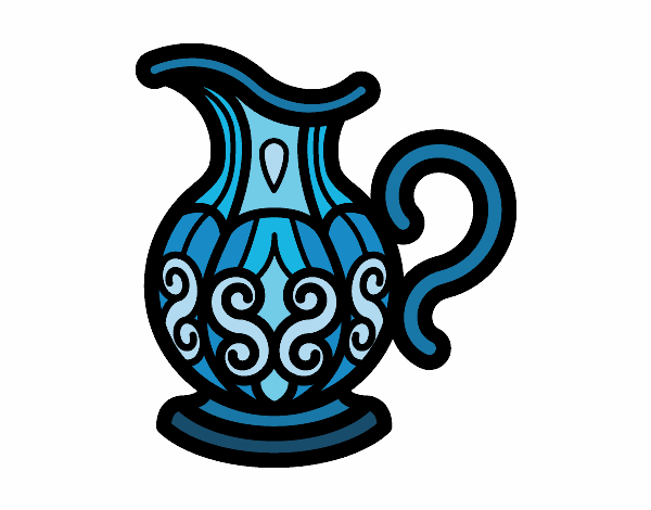 Coloring page Pitcher of water painted byAnnanymas