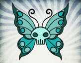 Coloring page Emo butterfly painted byEerie