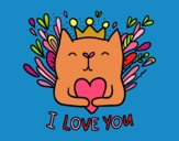 Coloring page Love message painted byPrincess