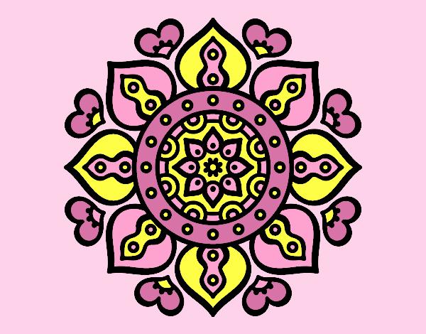 Mandala arabic hearts