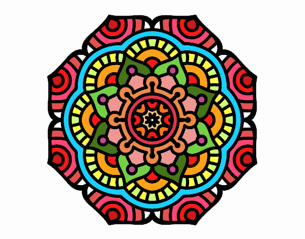 Mandala conceptual flower