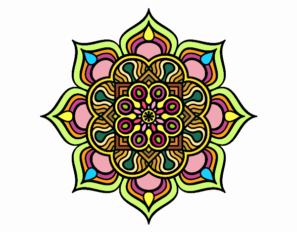 Mandala flower of fire