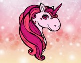 Coloring page A unicorn painted bysamg