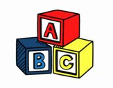 Coloring page Educational cubes ABC painted byrandol9572