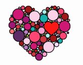 Coloring page Heart with circulate painted byrandol9572