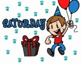 Coloring page Saturday painted byrandol9572