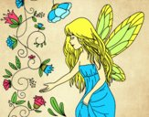 Coloring page Sylph painted bysamg