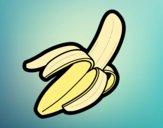Coloring page A banana painted bysamg