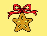 Coloring page A Christmas star painted byAnia