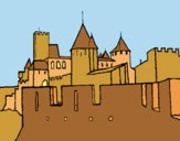 Coloring page Ancient castle painted byAnia
