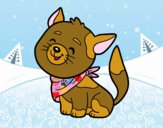 Coloring page Cat with kerchief painted byalexadra