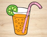 Coloring page Glass of soda painted bysamg