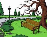 Coloring page Landscape park painted byrandol9572