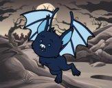 Coloring page Nice bat painted byfawnamama1
