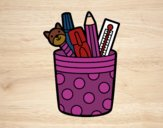 Coloring page Pen holders painted bysamg