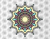 Coloring page Snow flower mandala painted byAnia