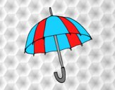 Coloring page An umbrella painted byAnia