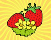 Coloring page Big strawberries painted byAnia