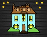 Coloring page Mansion painted byAnia